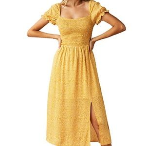 Yellow Summer dress size large only worn once
